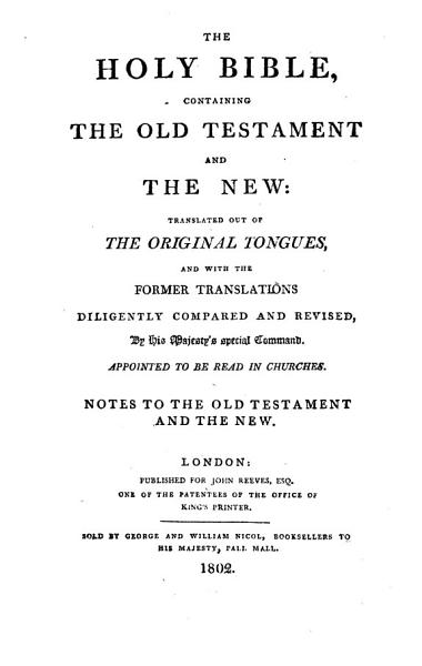 Download Notes to the Old Testament and the New Book