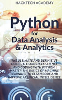 Python for Data Analysis   Analytics