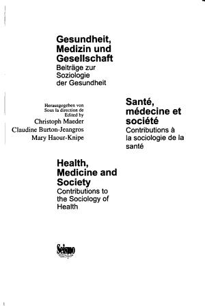 Gesundheit  Medizin und Gesellschaft PDF