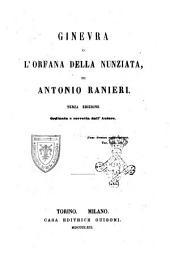 Ginevra, o L'orfana della Nunziata di Antonio Ranieri