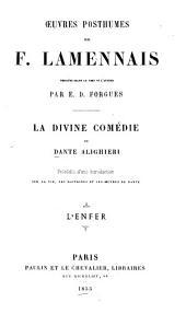 La Divine comédie de Dante Alighieri: L'Enfer