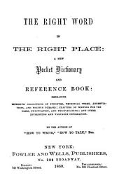 The right word in the right place: a new pocket dictionary and reference book