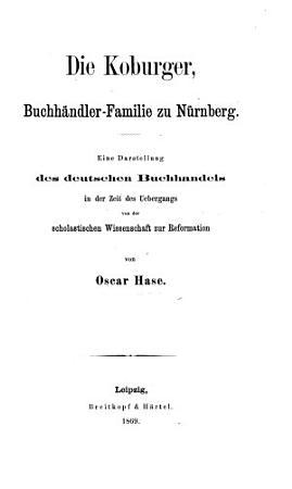 Die Koburger  Buchh  ndler Familie zu N  rnberg PDF