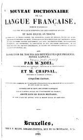 Nouveau dictionnaire de la langue française