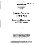 Income Security for Old Age: Conceptual Background and Major Issues, Volume 977