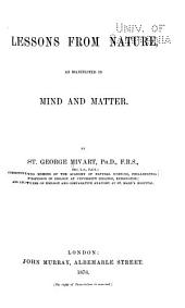 Lessons from Nature, as Manifested in Mind and Matter: Volume 25; Volume 590