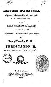 Alfonso d'Aragona azione drammatica in un atto [la poesia è del sig. L. Tarantini