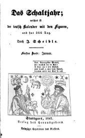 Das Schaltjahr: welches ist der teutsch Kalender mit den Figuren, und hat 366 Tag. Januar, Band 5