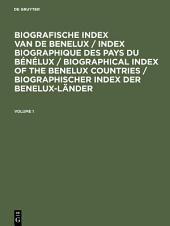 Biografische Index van de Benelux