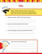 Read & Succeed Comprehension Level 1: Index Passages and Questions