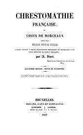 Chrestomathie française, ou choix de morceaux tirés des meilleurs écrivains français: Tome II