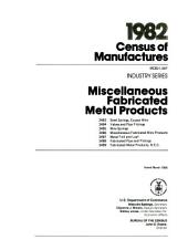 1982 Census of Manufactures: Industry series. Household appliances