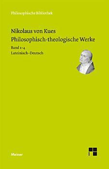 Philosophisch theologische Werke in 4 B  nden  PDF
