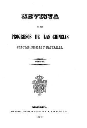 Revista de los progresos de las ciencias exactas  f  sicas y naturales PDF