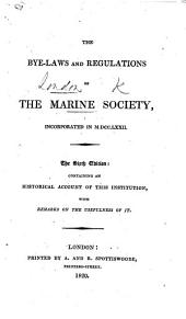 The Bye-laws and Regulations of the Marine Society ... The fifth edition, etc