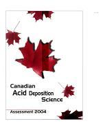 Canadian Acid Deposition Science Assessment, 2004