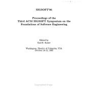 SIGSOFT  95 PDF