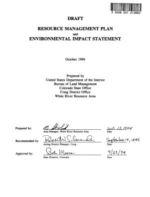 White River Resource Area Land and Resource(s) Management Plan (LRMP), Meeker County