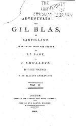 The Adventures of Gil Blas of Santillance