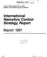 International Narcotics Control Strategy Report PDF