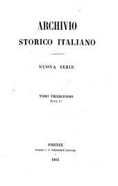 Archivio storico italiano: Volume 1;Volume 8;Volume 13
