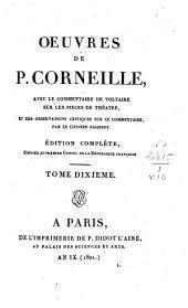 Psyché. Examen des pièces de Corneille. Les trois discours de P. Corneille sur l'art dramatique