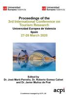 ICTR 2020 3rd International Conference on Tourism Research PDF