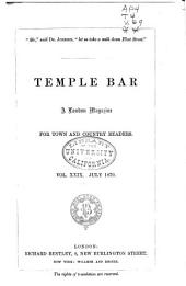 Temple Bar: Volume 29