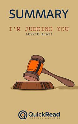 I   m Judging You by Luvvie Ajayi  Summary  PDF