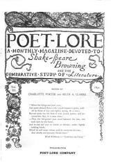 Poet Lore: Volume 3