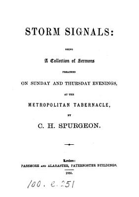 Storm signals  a collection of sermons PDF
