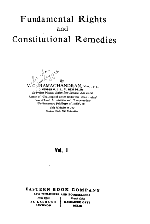 Fundamental Rights and Constitutional Remedies PDF