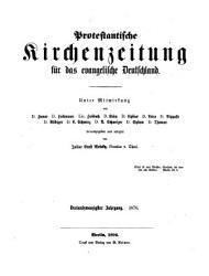Protestantische Kirchenzeitung f  r das evangelische Deutschland PDF