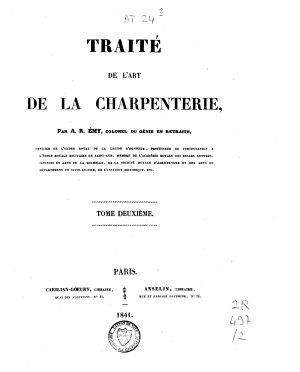 Trait   de l art de la charpenterie PDF