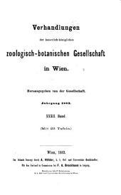Verhandlungen der Kaiserlich-Königlichen Zoologisch-Botanischen Gesellschaft in Wien: Band 32