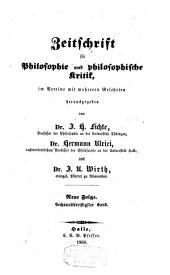 Zeitschrift für Philosophie und philosophische Kritik: Bände 36-37