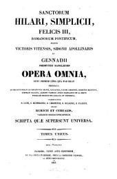 Sanctorum Hilari ... opera omnia