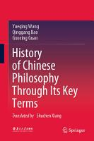 History of Chinese Philosophy Through Its Key Terms PDF