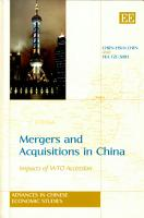 Mergers and Acquisitions in China PDF
