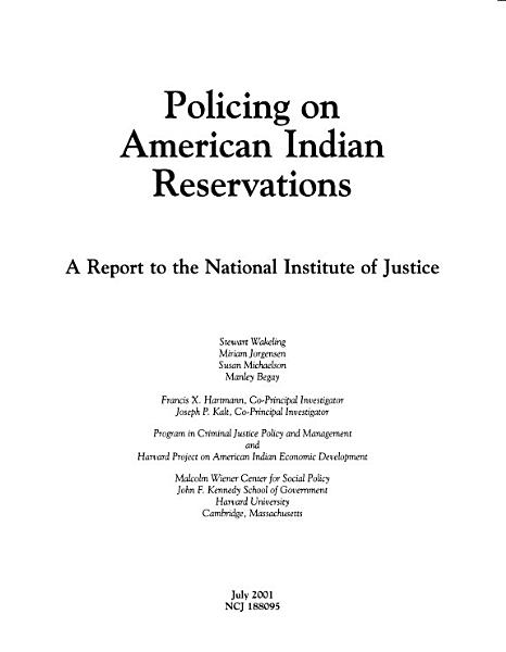 Download Policing on American Indian Reservations Book
