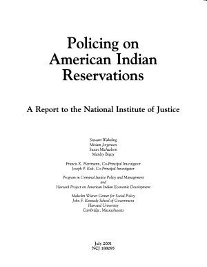 Policing on American Indian Reservations