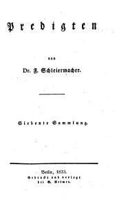 Predigten: Christliche Festpredigten ; 2. Bd, Band 7