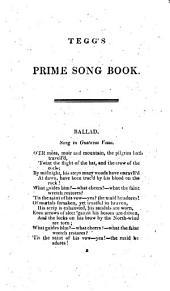 Tegg's Prime Song Book ... Third Collection