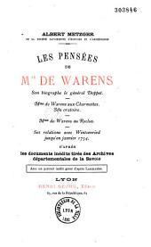 Les pensées de Mme de Warens: son biographe le général Doppet ...