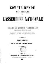 Compte rendu des séances de l'Assemblée nationale. 4 mai 1848 (- 27 mai 1849). [With] Table analytique ... du Compte rendu ... et des documents imprimés par ... ordre (de l'Assemblée).