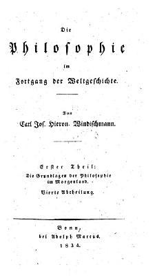 Die Grundlagen der Philosophie im Morgenland   Vierte Abtheilung  Zweites Buch  Indien III   PDF