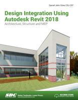 Design Integration Using Autodesk Revit 2018 PDF
