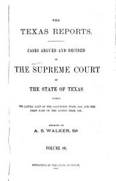 The Texas Reports: Cases Adjudged in the Supreme Court, Volume 80