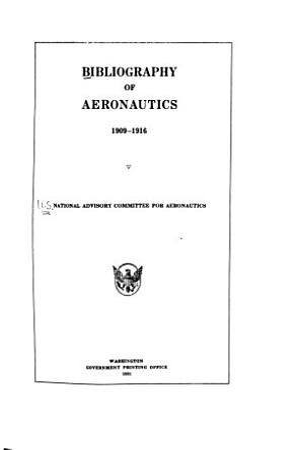 Bibliography of Aeronautics PDF