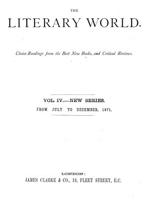 The Literary World PDF